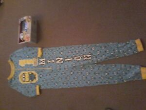 Brand New Despicable Me Alarm Clock & sz.7-8 Brand New Onesie