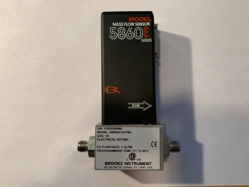 Brooks Mass Flowmeter 5860E, 1 slpm hydrogen