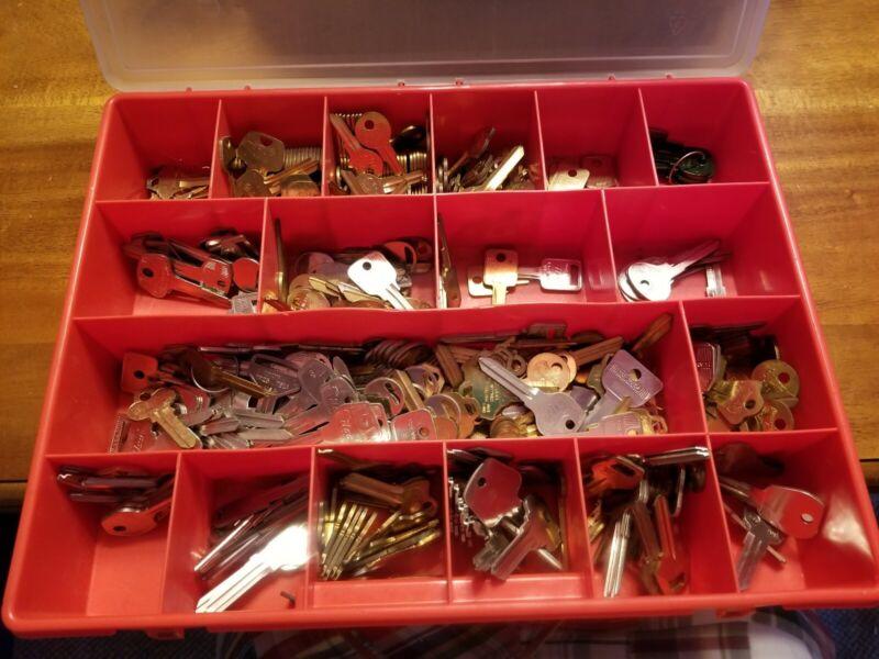 Big Lot NOS Uncut Key Blanks Locksmith Estate Drawer #1 Full New Old Stock Keys