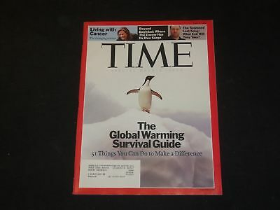 2007 APRIL 9 TIME MAGAZINE - THE GLOBAL WARMING SURVIVAL GUIDE - T 3263