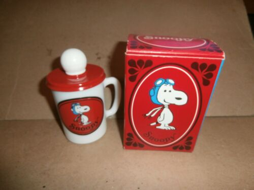 Vintage Avon Snoopy Liquid Soap Mug in Box 1969 Peanuts