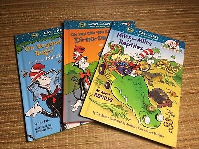 LOT OF 3 Doctor Seuss Cat in the Hat Children's Books - Educational Stories