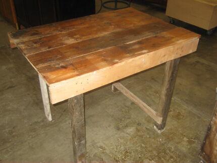 Rustic Wooden Workbench Kitchen Island Bench Industrial Unley Unley