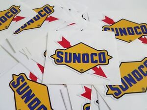 2 PAIR Sunoco Decals Stickers Racing Gasoline Oil