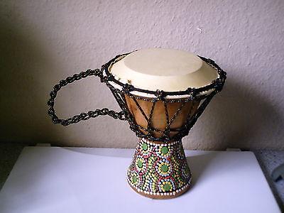 Drum ,Trommel ,Bongo ,Holz ,bemalt , Deko ?,voll bespielbar,nie Gebraucht, Neuw.