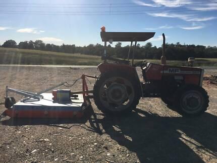 Massey Ferguson 254-4  tractor and howard nugget 6 foot slasher