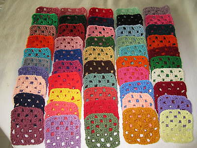 "60-4"" GRANNY SQUARES BLOCKS 4 AFGHAN, AFGHANS *ASSORTED"