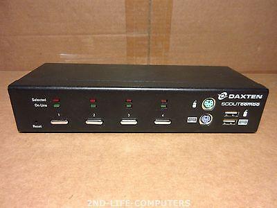 DAXTEN 1013-04K USB PS/2 VGA KVM SCOUTcombo Switch - EXCL PSU