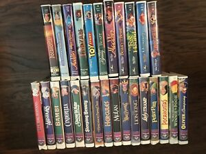 Disney Masterpiece and Black Diamond VHS collection
