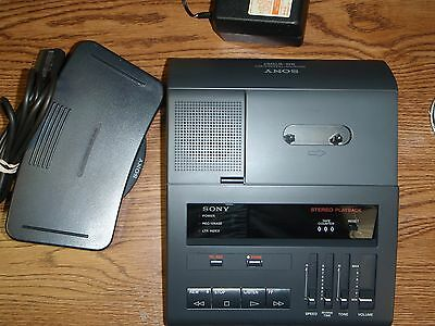 Sony BM87 standard cassette transcriber with foot pedal, AC adapter & warranty