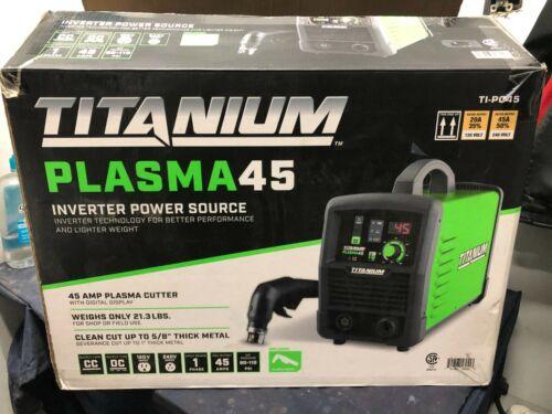 Titanium PLASMA 45 120V 45A Inverter Power Source Plasma Cutter TI-PC45 NEW