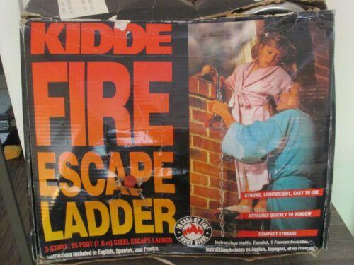 KIDDE 466430 Emergency Steel Fire Escape Ladder 25-ft/3-Story - NEW!