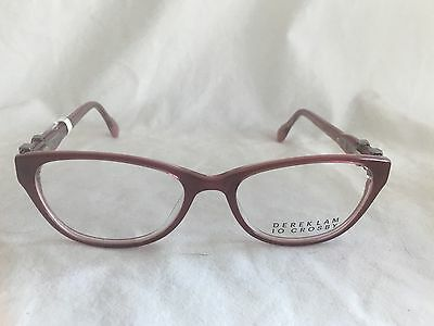 NEW Derek Lam 10 Crosby Cat Eye Eyeglasses Frame 551 Red Pink w Case 51-16
