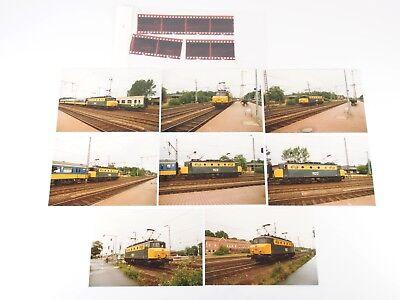 "8 Fotos 10x15 mit Negativen - E-Lok 1122 der NS - Bad Bentheim 1987 ""Xod02"