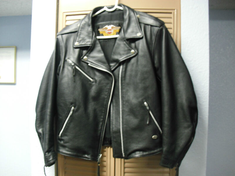 Harley Davidson Womens Black Leather Jacket W/XL