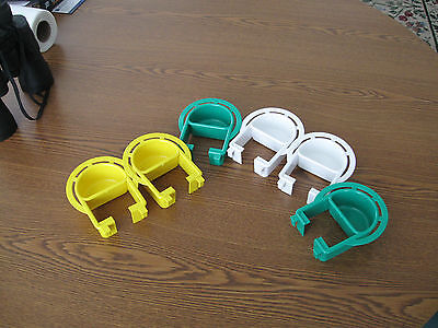 Bird cage plastic Extended feeder dish  Small set of 6 dishes