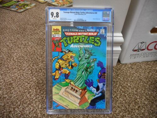 Teenage Mutant Ninja Turtles Adventures 20 cgc 9.8 Archie 1991 Statue of Liberty