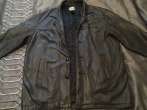 Vintage Roots 3/4 men's leather jacket- made in Canada