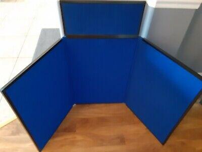 31 Bluebk Panel Header Trade Show Display Presentation Tabletop Board