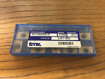 Toolmex Apkt1604pdsr-mm Pc3545 Inserts 10 Piece