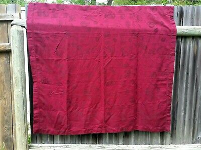 "XOCHI Burgundy Red Table Cloth 58x82"" Linen/Cotton Machine Wash & Dry"