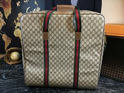 "GUCCI Vintage XL 21"" X 20"" X 9"" Carryall Duffle Travel Suitcase Trunk Luggage"