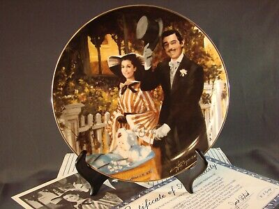 STROLLING IN ATLANTA Gone with the Wind Golden Anniversary Plate BOX COA
