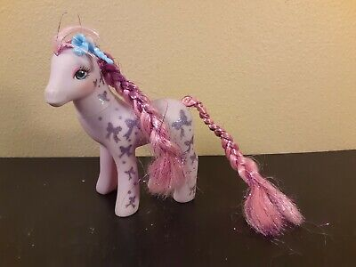 My Little Pony G1 Vintage Glitter Sweetheart Sister Bright Night Bows Purple