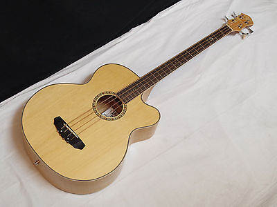 MICHAEL KELLY Firefly 4-string acoustic electric BASS guitar - Natural