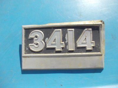 International 3414 Tractor Orginal Front Hood Side Panel Emblem Rare