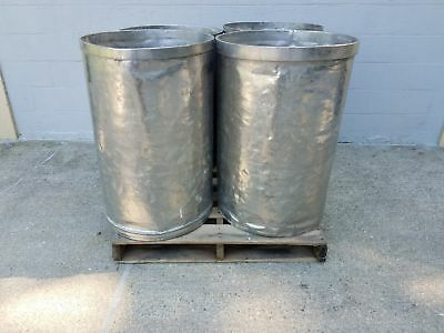 Used Open Top Stainless Steel Drums 4 Pack Lot Number 12