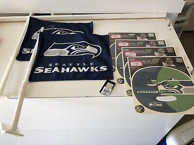 Fan Face Tattoo (NFL Seattle Seahawks 12th Man Fan Pack 4-Game Day Face Tattoo 2-Window Flags)