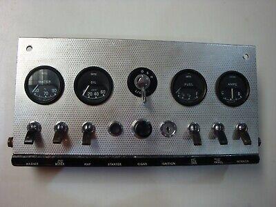 1A(59800) Jaguar 3.8  Series 1 XKE Etype Center Gauge Dash Panel