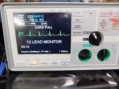 Zoll E Series 12 Lead Ecg Spo2 Aed Pacing And Co2 W Power Cord And Leads