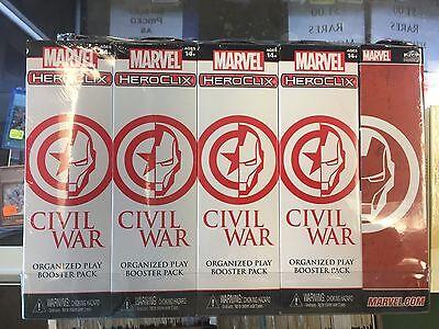 Marvel Heroclix Civil War Op Sealed Booster Brick W/Prize pack