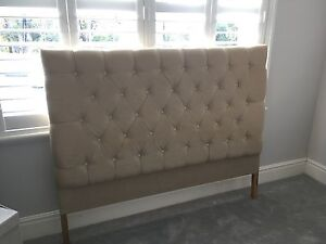 Queen tufted linen Bed head Lane Cove Lane Cove Area Preview