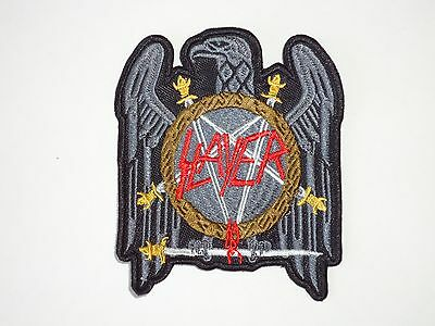 SLAYER EAGLE THRASH METAL EMBROIDERED PATCH