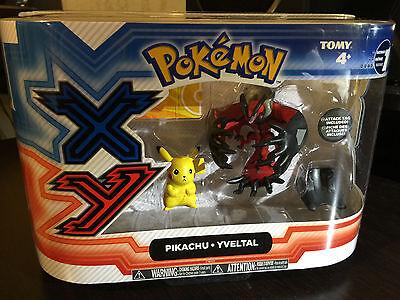 Pokemon XY Toy Figures TOMY Pikachu vs Yveltal Two pack NIB