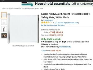 Brand new Lascal KiddyGuard Accent Retractable Safety Gate,