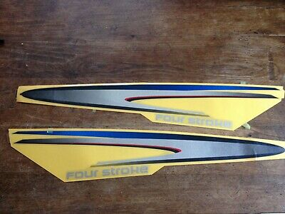 Yamaha F200 F250 Cowling Decals Four Stroke Outboard - 42675-00 42676-00 for sale  Guildford