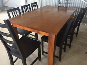 Solid wood table with 8 chairs East Kurrajong Hawkesbury Area Preview