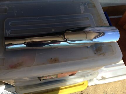 Chrome Heat Shield for Exhaust