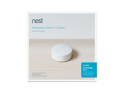 Nest Temperature Sensor 3 Pack Bundle Set for Themostat White T5001SF