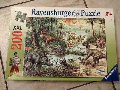 Zustand Puzzle (Puzzle Ravensburger 200 Teile XXL, Dinosaurier, vollständig, sehr guter Zustand)