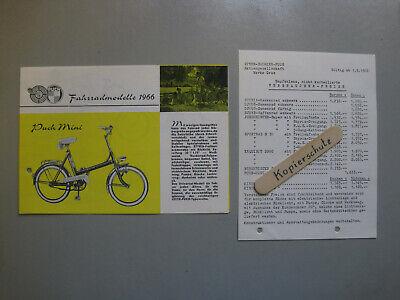 L809: Steyr Daimler Puch Fahrradprospekt 1966 mit Preisliste