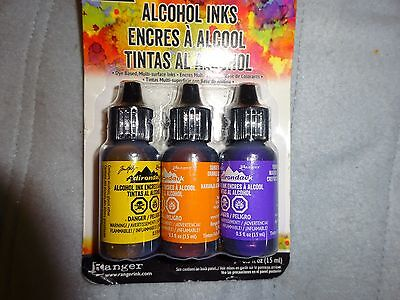 "Tim Holtz Adirondack 3 Pack ALCOHOL INK(Dye Based Multi surface) ""SUMMIT VIEW"""