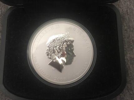 Australian Lunar Series II 2008 Gilded Mouse 1oz Silver Coin