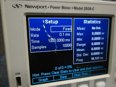Newport 2936-c Dual Channel Optical Power Meter Tested