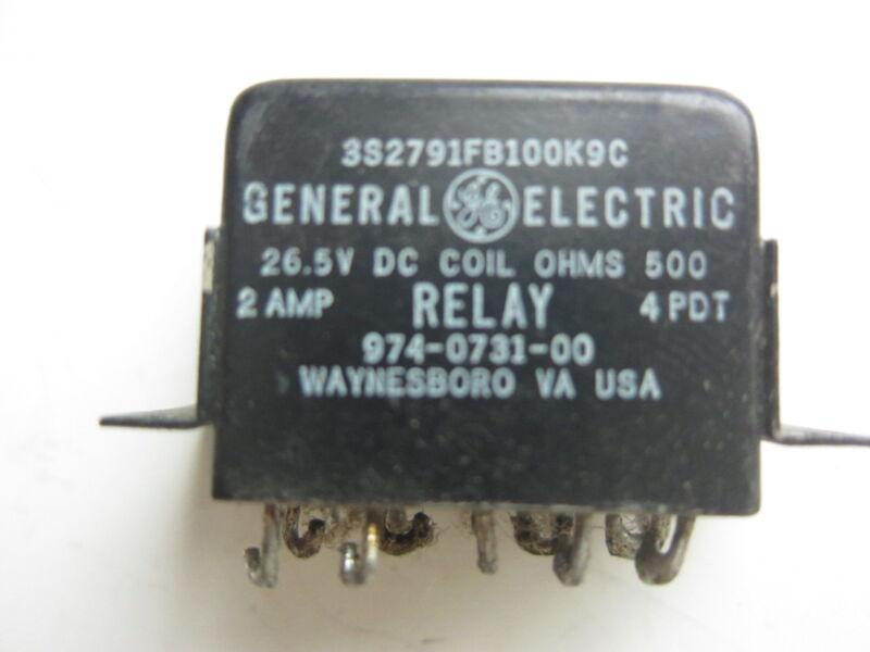 GE General Electric 3S2791FB100K9C 14-Pin 26.5VDC Relay, New