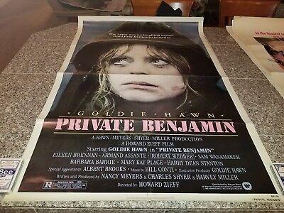 ORIGINAL MOVIE POSTER PRIVATE BENJAMIN WITH GOLDIE HAWN 1980 1 SHEET